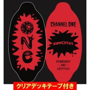 フラットスキム ランド Kayotics カヨティックス 2017「Channel-One」ブラック×レッド Size:99.5cm×49.5cm デッキテープ付|skimpeace-store