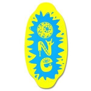 フラットスキム ランド Kayotics カヨティックス 2017「Channel-One」イエロー×ライトブルー Size:99.5cm×49.5cm デッキテープ付 skimpeace-store 04