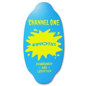 フラットスキム ランド Kayotics カヨティックス 2017「Channel-One」イエロー×ライトブルー Size:99.5cm×49.5cm デッキテープ付 skimpeace-store 05