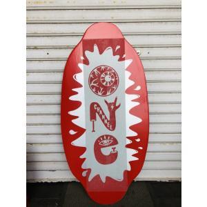 フラットスキム ランド Kayotics カヨティックス 「Channel-One」レッド×シルバー Size:99.5cm×49.5cm デッキテープ付|skimpeace-store|02