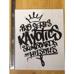 Kayotics カヨティックス 2017カッティングステッカー 黒 ブラック|skimpeace-store