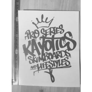 Kayotics カヨティックス 2017カッティングステッカー 銀 シルバー|skimpeace-store