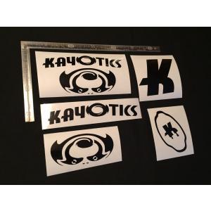 Kayotics カヨティックス カッティングステッカー 黒 ブラック|skimpeace-store