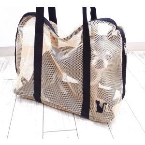 インナーバッグ 猫用シンプルメッシュ Lサイズ (チワワ 小型犬 犬 ショルダー トート バッグ ペット キャリー)|skipdog010420|02