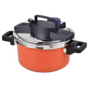 パール金属 NEWアルミIH対応ワンタッチレバー切り替え式圧力鍋 4.2L(内面ふっ素加工) HB-...