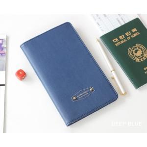 【ICONIC】パスポートウォレット・アンチスキミング機能付(色:Deep blue 濃いめの青)オ...