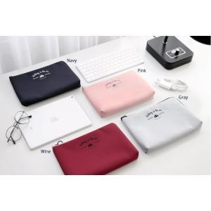 ICONIC Cable pouch Lサイズ  4種類 フラットポーチ インナーバッグ ケーブル 旅行 かわいい プレゼント お出かけ 女の子 人気 可愛い スリム シンプル |skipskip