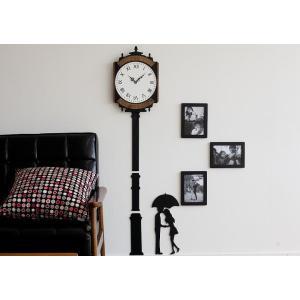 【HANDMADE】壁掛け時計 長時計(ClockTower)ハンドメイド プレゼント 贈り物 クロ...