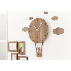 壁掛け時計 SkyBaloon (気球)ハンドメイド プレゼント 贈り物 クロック 新築 お祝い ギ...