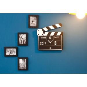 プレゼント 贈り物 クロック 新築 お祝い ギフト おしゃれ 映画 映画館 ムービー フィルム 黒板...
