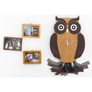 壁掛け時計 ふくろう(swing owl)プレゼント 贈り物 クロック 新築 お祝い ギフト おしゃ...