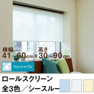 ロールスクリーン TASTE シースルー(レースカーテンのような透け感) 横幅41〜60cm × 高さ30〜90cm  オーダー メイド 立川機工製|skipskip
