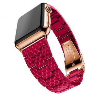 華やかなビビッドカラーが目を惹く ステンレス素材のアップルウォッチ用替えベルトです。  男女共に使え...