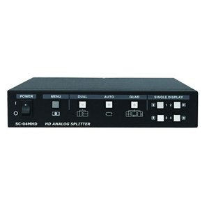 WTW-PQ4002 映像分割器 リモコン付きタイプ 4台監視カメラを同時確認