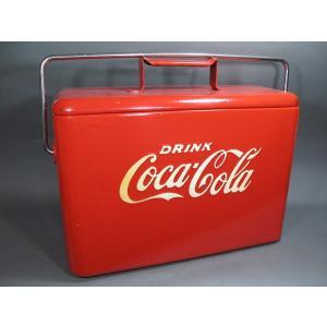 昭和レトロな60年代当時ものコカコーラ ヴィンテージ クーラーボックスです。  経年の使用感キズヨゴ...