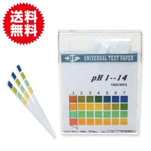 pH試験紙(スティックタイプ)pH1-14 ペットグッズ 熱帯魚・アクアリウム 水質管理 水質測定剤 自由研究|sky-group