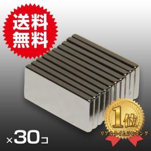 小さく薄い 強力 磁石 30個セット 長方形 ネオジウム マグネット  20mm×10mm×2mm 鳩よけ