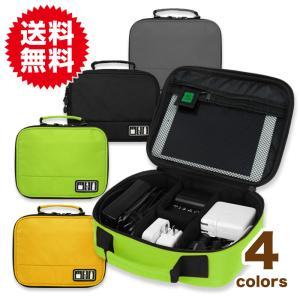 PC スマホ 小物 収納 ポーチ ケーブル バッグインバッグ 整理 モバイル アクセサリー インナーバッグ ケース ACアダプター USBメモリ iPad Mini 2 収納可|sky-group