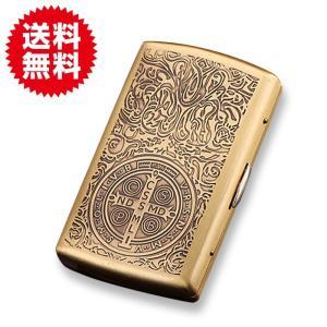 シガレットケース ゴールド コンスタンティン風 アンティーク シガーケース シガレット たばこ 入れ ケース 収納 プレゼント