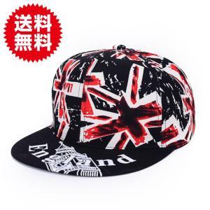 キャップ 帽子 ユニオンジャック 英国旗 スナップ バック ヒップホップ ストリート ファッション ユニセックス sky-group