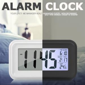目覚まし時計 デジタル 卓上 めざまし時計 起きれる 子供 大音量 大画面 夜間バックライト 自動点灯 温度計 アラーム