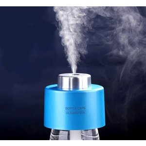 【送料無料】ペットボトル に 簡単 装着 コンパクト 加湿器 【ブルー】 持ち運び 楽々|sky-sky