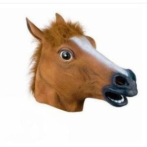 【メール便 送料無料】馬のマスク 江南スタイル コスチューム用小物 大人用サイズ|sky-sky