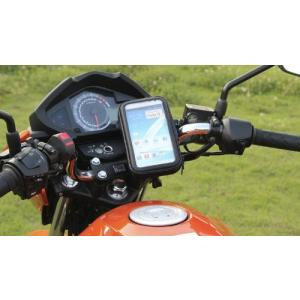 【メール便 送料無料】防水スマホマウントホルダー  バイクや自転車などのハンドルにスマートフォンを取り付け可能!5.3インチのスマホまで対応|sky-sky