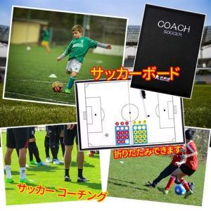 サッカーフットサルの作戦ボードです。 付属品:プレーヤーマグネット2チーム分、マーカーペン1本 サイ...