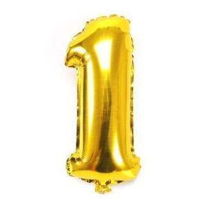 【メール便送料無料】ちょうど良い大きさ 数字バルーン ゴールド 誕生日 ウェディング パーティー|sky-sky