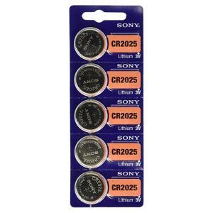 【メール便 送料無料】SONY ソニー  時計用 ボタン電池 CR2025(5個)|sky-sky