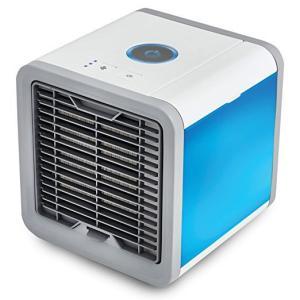 小型クーラー ミニエアコンファン 扇風機 冷風機 7色LED ミニポータブルエアコン 冷却 加湿 空気清浄機 軽量 携帯