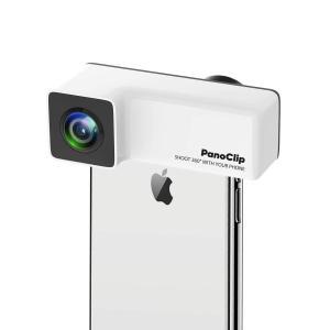 iPhoneX PanoClip 360° iPhone7 Plus/8 Plus iPhone X レンズ パノラマカメラ iPhone スマホレンズ 全方位 広角 魚眼 ダブルレンズ|sky-sky