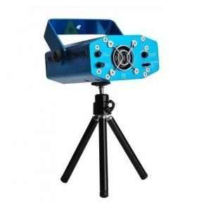 レーザーステージライト イルミネーション 照明マシン (LED DISCO DJ ミニポータブルレーザーライト / ディスコライト・照明・演出 舞台照明 (ブルー)|sky-sky