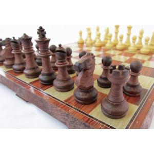 折りたたむと中にコマを収納できるチェスボード チェッカー|sky-sky