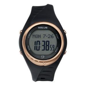 SOLUS(ソーラス心拍計) 心拍腕時計 ハートレートモニター チームスポーツ300 ブラック×ピンクゴールド black
