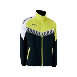値下特価/ミズノ(MIZUNO) テニス ブレスサーモライトウォーマーシャツ ブラック×ライムグリーン/62JE650193|sky-spo
