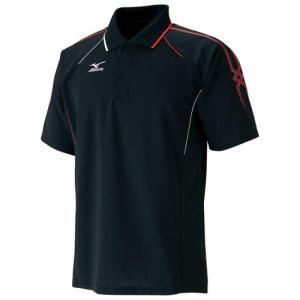 MIZUNO(ミズノ) テニスゲームシャツ ブラック×レッド×ホワイト|sky-spo