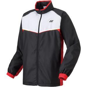 2018年モデル/ヨネックス(YONEX)ユニウィンドウォーマーシャツ/ウインドブレーカー ジャケット/ブラック/ホワイト/レッド(パンツ:80049)|sky-spo