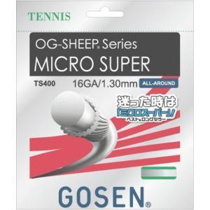 ゴーセン(GOSEN)OG-SHEEP ミクロスーパー16L/ホワイト/硬式テニス/ガット/ゲージ:1.25mm(16LGA.)●長さ:12.2m/TS401-W sky-spo