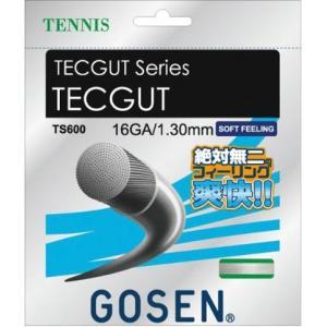 ゴーセン(GOSEN)TECGUT テックガット16/ホワイト/硬式テニス/ガット/ゲージ:1.30mm(16GA.)●長さ:12.2m/TS600-W sky-spo