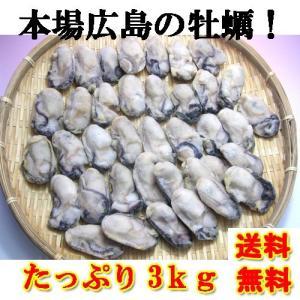 令和3年 新物 牡蠣 かき カキ 冷凍 2LからLサイズ 3kg 剥き身 広島産