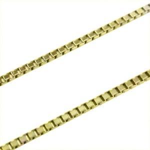 K18 チェーン ネックレス ベネチアンチェーン スライド式 1.2mm|skybell-shop