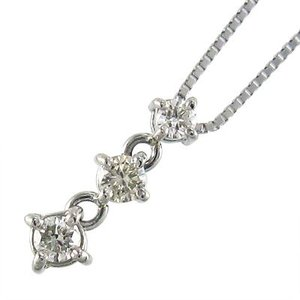 ダイヤモンド ペンダント ネックレス スリーストーン 4月誕生石 プラチナ900 3連 skybell-shop