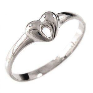 指輪 地金 ハート 型 k10ホワイトゴールド|skybell-shop