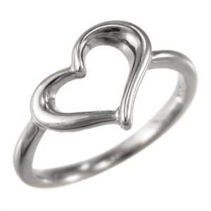 ホワイトゴールドk10 指輪 オープン ハート スタンダード|skybell-shop