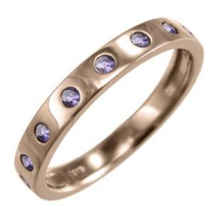 指輪 k18ピンクゴールド アメジスト 2月の誕生石 9ピー...