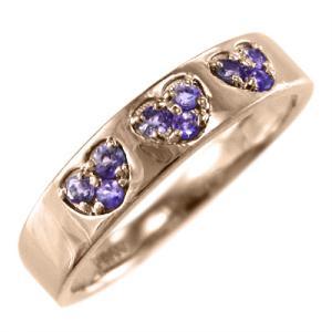 ハート 指輪 アメジスト(紫水晶) 18金ピンクゴールド|skybell-shop