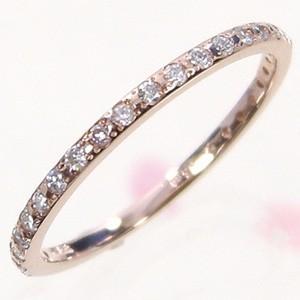 ハーフ エタニティ 指輪 ダイヤモンド 4月誕生石 ピンクゴールドk18|skybell-shop