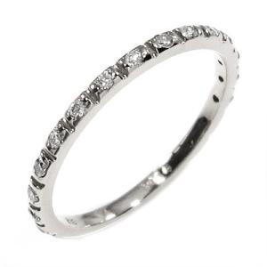 ハーフ エタニティ 指輪 プラチナ900 ダイアモンド 4月誕生石|skybell-shop